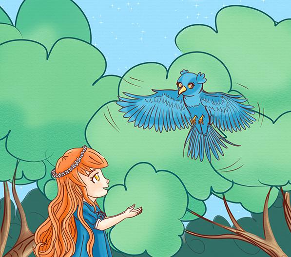 Oiseau bleu du pays merveilleux
